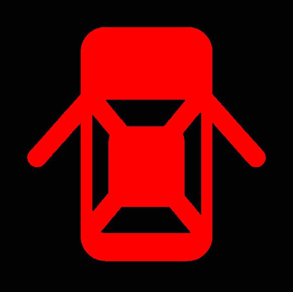 半ドア警告灯のマーク