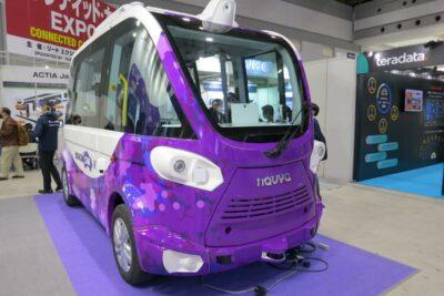 新型コロナの検体を運んだ自動運転車「NAVYA(ナビヤ)」に試乗!