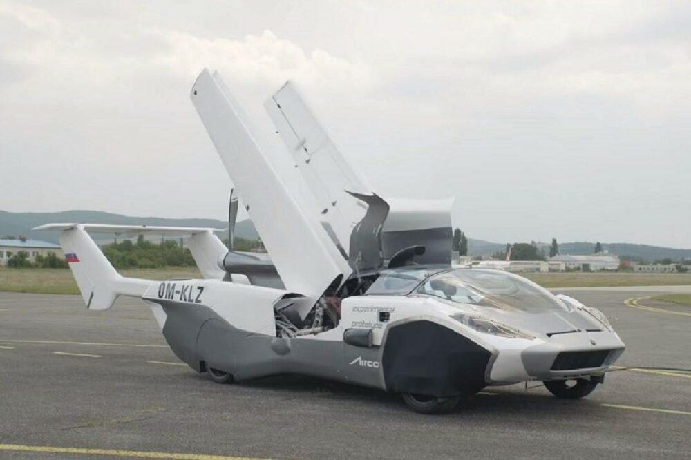 【リアルトランスフォーマー】3分で飛行機に変形する車「AirCar」