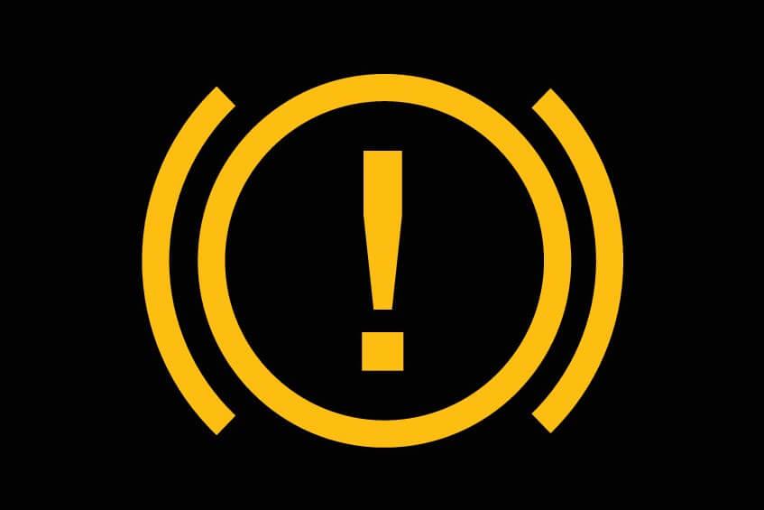 ブレーキ警告灯(黄色)のマーク