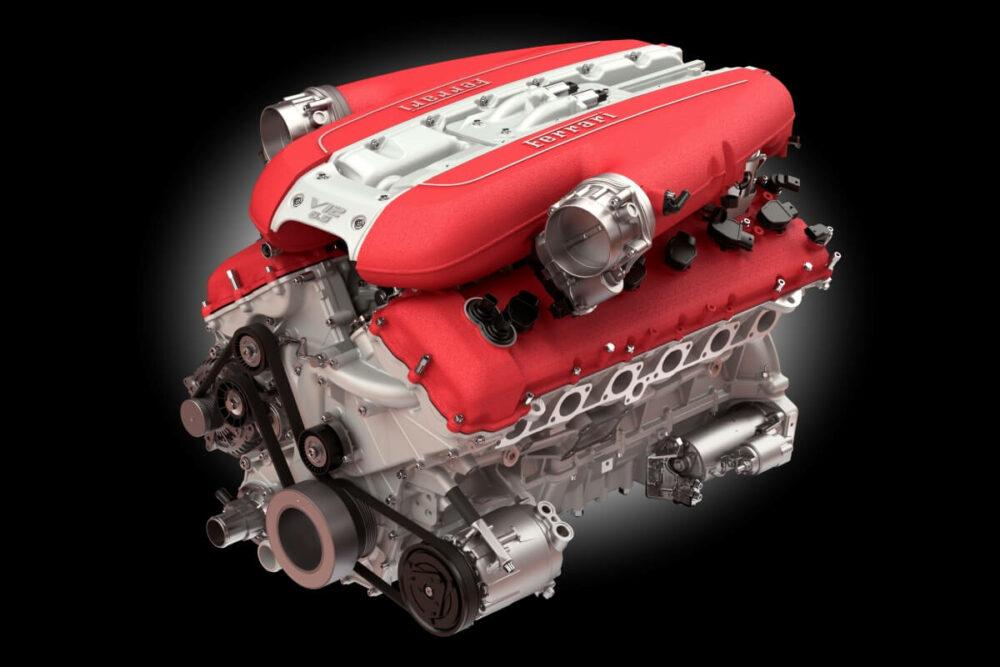 フェラーリ 812スーパーファストに搭載されたV12エンジン