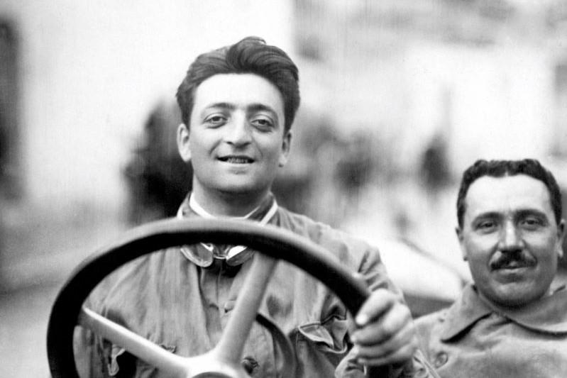 ドライバー時代のエンツォ・フェラーリ